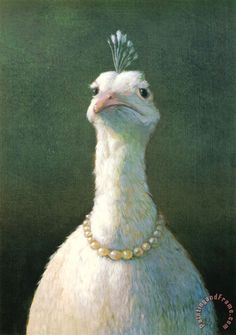 Michael Sowa Fowl with Pearls Art Print for sale - paintingandframe.com