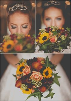 Sunflower wedding bouquet by @LeafyCouture  www.leafycouture.co.uk