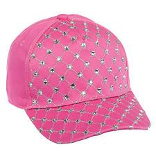 Daizy Chainz Womens Cotton Diamond Rhinestone Adjustable Baseball Cap Hat