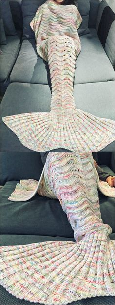 Mermaid Tail Design.Use the coupon code:TIFFANY10,get 10% off now! #mermaid #blanket #diy #coupon