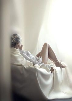 A woman's body winds down at the end of the day if given a chance to relax.