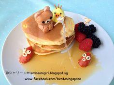 Little Miss Bento シャリーのかわいいキャラベン: リラックマのパンケーキのフードアート Pancake Food Art Rilakkuma Fishing