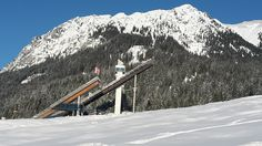 Erdinger Arena Oberstdorf, die Skisprungschanzen am Fuße des Nebelhorns