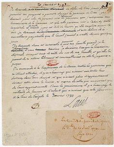 Lettre autographe signée de Louis XVI 1 - Archives Nationales - AE-II-1338 - Procès de Louis XVI — Wikipédia