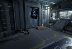 ArtStation - Sci-Fi Bedroom, Mihai Muscan