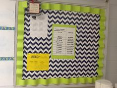 Chevron bulletin board...  I would use this bulletin board for class news