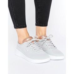 da8361c90bd90e Lacoste Lt Spirit Elite Grey Trainers (€94) ❤ liked on Polyvore featuring  shoes