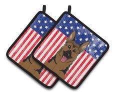 American Flag and German Shepherd Potholder