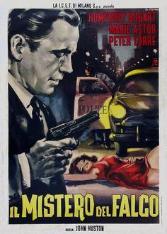 """""""Il mistero del falco"""", """"The Maltese Falcon"""" (1941). Country: United States. Director: John Huston."""