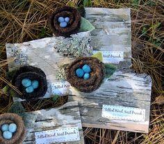 felt bird nest