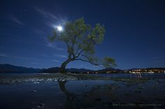 Moonrise over Lake Wanaka, NZ. One of the locations we visit on our quarterly Photo Tours to NZ.