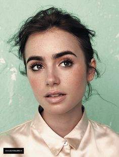 lily collins. great skin, great brows, great lashes.