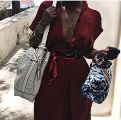 @Serrabellum wearing Zara and Hermes