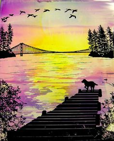 Dog on the dock