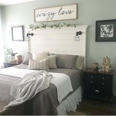 Adding That Perfect Gray Shabby Chic Furniture To Complete Your Interior Look from Shabby Chic Home interiors. Bedroom Wall Decor Above Bed, Cozy Bedroom, Home Decor Bedroom, Modern Bedroom, Bedroom Furniture, Diy Home Decor, Master Bedroom, Girls Bedroom, Bedroom Ideas