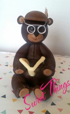 Grandpa teddy bear cake topper - sweetthingsbywendy.ca Teddy Bear Cakes, Cake Toppers, Cupcake Cakes, Sweets, Christmas Ornaments, Holiday Decor, Goodies, Christmas Jewelry, Cupcakes