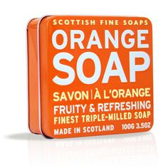 025a300a18 Soap in a Tin - Orange Tonalità Di Verde, Saponette Fatte A Mano, Arancione