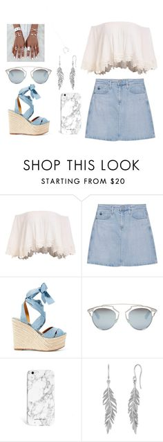 """""""BLUE/SILVER LOOK"""" by karengissel ❤ liked on Polyvore featuring AG Adriano Goldschmied, Ralph Lauren, Christian Dior and Wolf & Moon"""