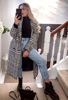 Winter Mode Outfits, Winter Outfits Women, Casual Winter Outfits, Winter Fashion Outfits, Fall Outfits, Summer Outfits, Casual Fall, Flannel Outfits, Winter Dresses