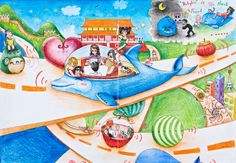 'Future Car For Everybody' by Huang Kaichi, Aged 15, China: 2nd Contest, Silver #KidsArt #ToyotaDreamCar