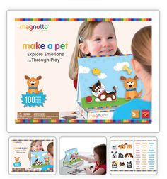 "Neat-Oh! International, makers of award-winning kids' products, launches <a href=""http://neat-oh.com/wpccategories/magnutto/"">Magnutto</a>™ Make A Mood ($24.99), one of three new magnetic activity sets for kids as young as three years old. You can choose from Make A Pet, Make A Dino and Make A Mood! Kids are encouraged to make a faces with magnets on an easel as they explore different feelings and the words that express them."