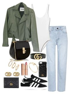 """""""Untitled #4297"""" by theeuropeancloset on Polyvore featuring Yves Saint Laurent, Gap, Acne Studios, adidas Originals, Chloé, Gucci, H&M, Cartier and Charlotte Tilbury"""