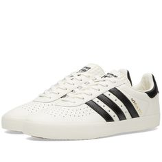 Adidas SPZL 350 (Off White, Black & Cream) Adidas Spezial, Black Cream, Adidas Sneakers, Me Too Shoes, Trainers, French Riviera, Black Leather, Fashion Shoes, Kicks