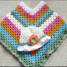 Kinderpancho grannystyle