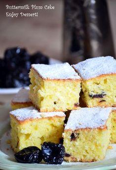 Cake with yogurt and prunes - kolač sa suvim šljivama i jogurtom (butermilkom) Romanian Desserts, Romanian Food, Prune Cake, Just Bake, No Cook Desserts, Desert Recipes, Food To Make, Cake Recipes, Sweet Treats