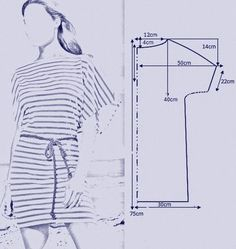 vamos combinar: MOLDES VESTIDOS TIPO TÚNICAS Sewing Patterns Free, Dress Patterns, Free Sewing, Easy Sewing Projects, Diy Projects, Refashion, Collars, Upcycle, House Styles