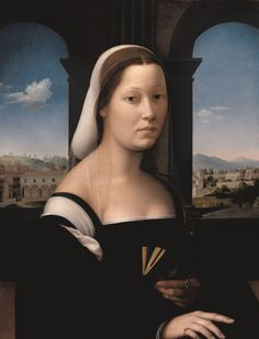 Ridolfo del Ghirlandaio, Portrait of a Veiled Woman, c.1510, Florence, Uffizi