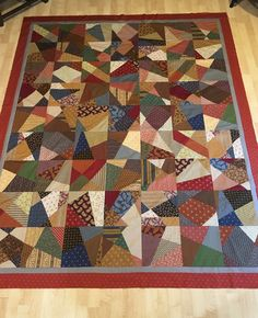 Whack and Stack quilt.   November 2017 charity quilt.