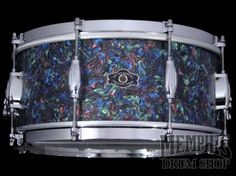 George H. Way 14 x 6.5 Legacy Snare Drum - Red/Green/Blue Pearl