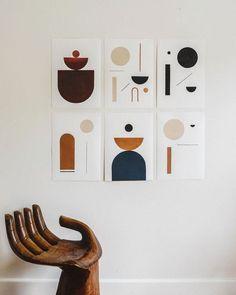 abstract art gallery wall - Home Decoration Ideas Modern Wall Art, Contemporary Art, Wall Of Art, Unique Wall Art, Art Bleu, Arte Art Deco, Minimal Art, Decoration Originale, Home And Deco