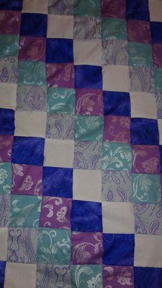 Lavender purple blue diagonal design lap /  by Pinkladycottage