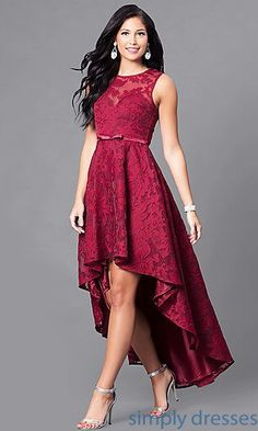 Shop for homecoming dresses and short semi-formal party dresses at Simply Dresses. Semi-formal homecoming dresses, short party dresses, hoco dresses, and dresses for homecoming events. High Low Prom Dresses, Trendy Dresses, Homecoming Dresses, Bridesmaid Dresses, Prom Gowns, Red High Low Dress, Long Gowns, High Low Top, Dress Long