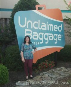 This is where all the lost luggage ends up: Unclaimed Baggage Center. You can get great stuff there for a bargain! Come see what I found!