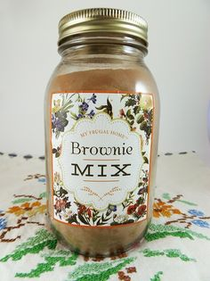 Make your own brownie mix faster than you can drive to the store for some. This recipe makes dense, fudgy brownies. Homemade Cake Mixes, Homemade Brownie Mix, Homemade Brownies, Homemade Spices, Homemade Seasonings, Fudgy Brownies, Brownie Mix Recipes, Cake Mix Recipes, Mason Jar Mixes