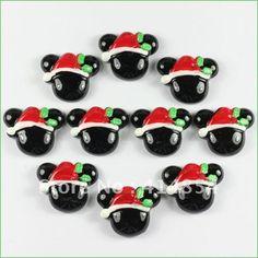 Großhandel bulk viele 50 Stück harz mickey mouse mit hut weihnachten flatback Wohnung zurück scrapbooking x' in von auf Aliexpress.com