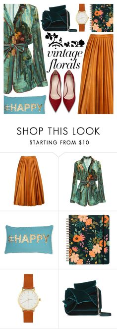 """Vintage Florals"" by ana3blue ❤ liked on Polyvore featuring By Malene Birger, Alberta Ferretti, Thro, N°21 and vintage"
