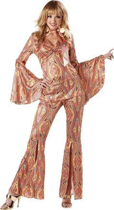 Herren Kostüm 60er Disco Popart Hippie Karneval Fasching WIL