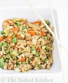 """Healthy Fried Rice: You might be wondering why a meal with the word 'fried' is part of our healthy series 'New You for the New Year"""".  Well, despite it's name, fried rice is a super healthy meal that is not only delicious but quick and easy to make!  Fried rice is one of my top 3 family friendly favorite meals.  You just can't lose with a meal that takes 5 minutes to make!"""
