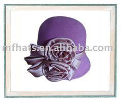 sombrero de fieltro púrpura del cloche de las lanas de las señoras - spanish.alibaba.com