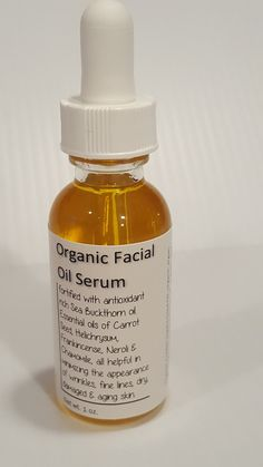 Organic Serums - Organic Oil Facial Serum Natural Anti-Aging Serum for Face, Skin Sea Buckthorn, Carrot Seed, Frankincense, Helichrysum Homemade Moisturizer, Face Scrub Homemade, Homemade Skin Care, Organic Facial, Organic Skin Care, Organic Oils, Organic Soap, Anti Aging, Brown Spots On Skin