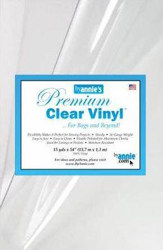 Clear Vinyl- $12/Yard