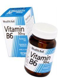 Health Aid vitamina B6  50mg 100 comprimidos