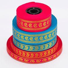 Beautiful Paisley Pattern in Stunning Metallic Gold Thread. Perfect for Crafts and Dressmaking, Sold in Saree Lengths, and Widths and 2 Colour Options: Turquoise & Cerise Satin Ribbon Flowers, Grosgrain Ribbon, Ribbon Braids, Sewing Trim, Sari Fabric, Sewing Appliques, Button Crafts, Paisley Pattern, Haberdashery