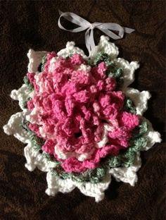 Rose Potholder - Free Crochet Pattern