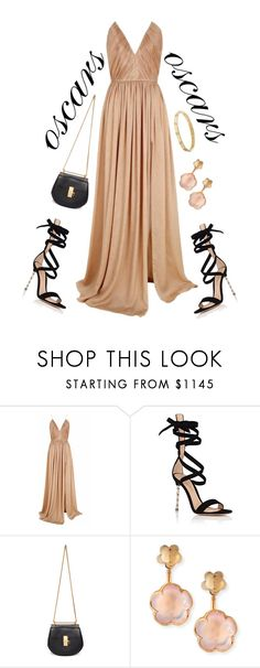 """oscars"" by valoverhere ❤ liked on Polyvore featuring The 2nd Skin Co., Gianvito Rossi, Chloé, Pasquale Bruni and Cartier"