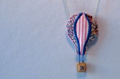 Balloon And Clouds Necklace